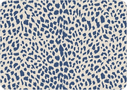 "Home Accents Premium Comfort 1'10"" x 2'7"" Blue Cheetah Mat, Blue"
