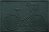"""Home Accents Aqua Shield 1'11"""" x 3' Nantucket Bicycle Indoor/Outdoor Doormat, Green"""