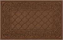 """Home Accents Aqua Shield 1'11"""" x 3' Rosalie Indoor/Outdoor Doormat, Brown"""