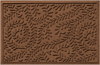 "Home Accents Aqua Shield 1'11"" x 3' Boxwood Indoor/Outdoor Doormat, Brown"