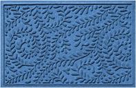 """Home Accents Aqua Shield 1'11"""" x 3' Boxwood Indoor/Outdoor Doormat, Blue"""