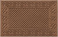 """Home Accents Aqua Shield 1'11"""" x 3' Acropolis Indoor/Outdoor Doormat, Brown"""