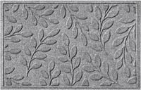 "Home Accents Aqua Shield 1'11"" x 2'11"" Brittany Leaf Indoor/Outdoor Doormat, Gray"