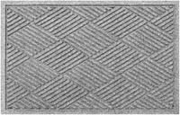 """Home Accents Aqua Shield 2' x 2'10"""" Diamonds Indoor/Outdoor Doormat, Charcoal"""