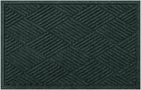 """Home Accents Aqua Shield 2' x 2'10"""" Indoor/Outdoor Diamonds Doormat, Green"""