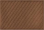 Home Accents Aqua Shield 3' x 5' Argyle Estate Mat, Brown