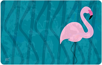 "Home Accents 1'11"" x 3' Flamingo Accent Mat by Dominique Vari, Blue"