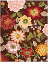 """Home Accents Fantasy 8' x 10'6"""" Rug, Chocolate"""