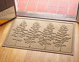 Home Accents 2' x 3' Fir Forest Indoor/Outdoor Doormat, Khaki