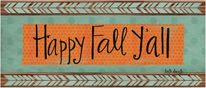 """Home Accents 2'1"""" x 5' Happy Fall Y'all Doormat, Multi"""