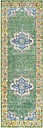 "Home Accents Aura silk 2' 7"" x 7' 6"" Runner, Green"