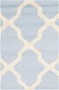 Cambridge 2' x 3' Wool Pile Rug, Light Blue/Ivory