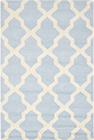 Cambridge 4' x 6' Wool Pile Rug, Light Blue/Ivory
