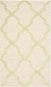Cambridge 3' x 5' Wool Pile Rug, Ivory/Light Green