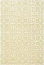 Cambridge 3' x 5' Wool Pile Rug, Light Green/Ivory