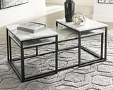 Donnesta Table (Set of 3), Gray/Black