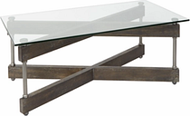 Glass Top Coffee Table, Transparent