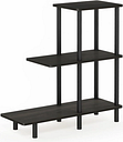 Espresso Finish Turn-N-Tube 3-Tier Sofa Side Table Tall, Espresso