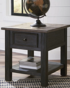 Tyler Creek End Table, Grayish Brown/Black