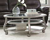 Coralayne Coffee Table, Silver Finish