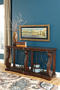 Alymere Sofa/Console Table, Rustic Brown