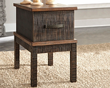 Stanah Chairside End Table with USB Ports & Outlets, Two-tone