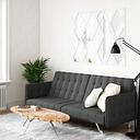 Atwater Living Elvia Convertible Futon and Sofa Sleeper, Gray