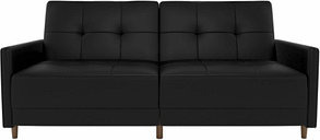 Andora Coil Futon Leather, Black