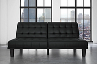 Mark Futon & Lounger Leather, Black