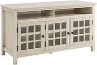Largo Media Cabinet, White