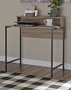 Titania Home Office Desk, Light Brown/Gunmetal