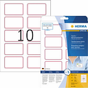 Herma 4405 Labels (A4) 80 x 50 mm Acetate silk White, Red 200 pc(s) Removable Name stickers