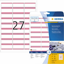 Herma 4512 Labels (A4) 63.5 x 29.6 mm Acetate silk White, Red 540 pc(s) Removable Name stickers
