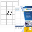 Herma 4511 Labels (A4) 63.5 x 29.6 mm Acetate silk White 540 pc(s) Removable Name stickers