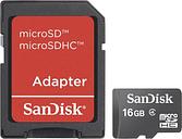 SanDisk Micro SD 16 GB microSDHC card 16 GB Class 4 incl. SD adapter