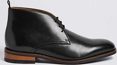 M&S Collection Big & Tall Leather Chukka Boots