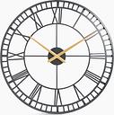 Skeleton Large Metal Wall Clock