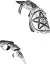 Claws - PENTAGRAM STAR - Pewter Jewellery & Watches > Men's > Rings