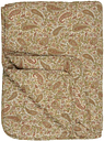 Ib Laursen - Large Green, Mustard and Rust Paisley Quilted Throw