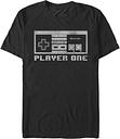 Nintendo Men's Nes Controller Player One 8Bit Short-Sleeve T-Shirt -  -