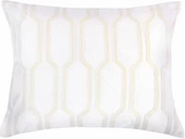Levtex Wythe Spa Embroidered Trellis Pillow -