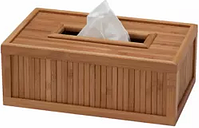 Creative Ware Home  Eco Styles Flat Tissue Box - Bamboo -  -