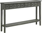 Powell Company Negan Gray Long Console -