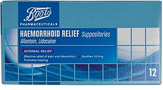 Boots Pharmaceuticals Haemorrhoid Suppositories -12 suppositories