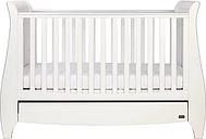 Tutti Bambini Lucas Sleigh Cot Bed - White Finish