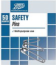 Boots Safety Pins (50 Assorted)