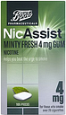 Boots Pharmaceuticals NicAssist Minty Fresh 4mg Gum Nicotine - 105 Pieces