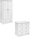 Silver Cross Nostalgia Dresser & Wardrobe - Antique White