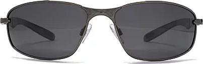 Freedom Polarised Sunglasses - Gunmetal and Black Frame