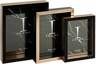 I-Frame Black & Gold Set of 3 Photo Frames